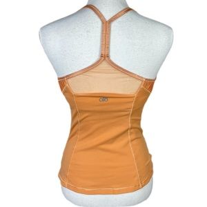 Alo yoga sorbet orange cool fit racer tank Small